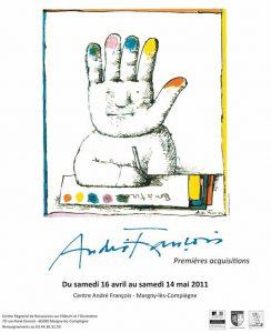 Affiche de l'exposition André François, premières acquisitions