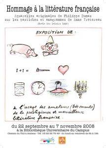 Affiche de l'exposition Philippe Dumas