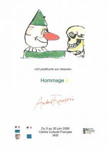 """Affiche de l'exposition : """"Un posthume sur mesure : hommage à André François"""""""