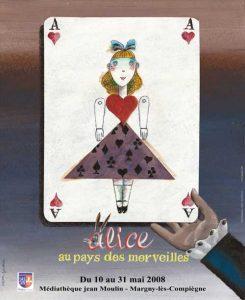 Affiche de l'exposition Alice au pays des merveilles