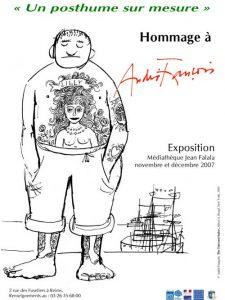Affiche de l'exposition : Un posthume sur mesure