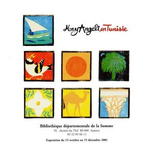 Affiche de l'exposition : May Angeli en Tunisie